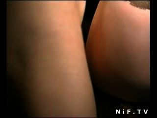French Slut In Stockings Anal Fucked In Threesome