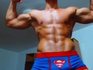 Hot Ripped Fighter Flexing