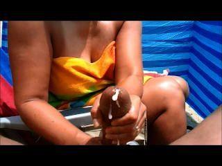 Milf Handjobs Big Cock At The Beach