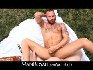 Manroyale Hot Guys Flip Fuck At The Park