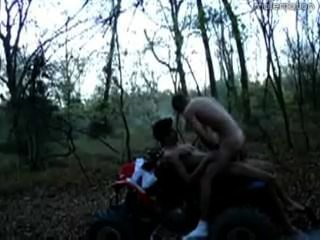 Two Guys Go Out It In Woods On Their Four Wheeler ( Atv )