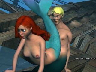 Wild Little Mermaid Gets Fucked Senseless Part 3