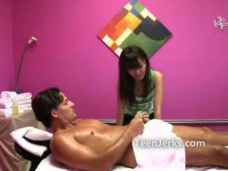 Cute Asian Woman Works At Rub And Tug