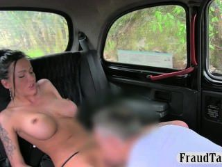 Hot Busty Slut Anal Creampie Jizzed In The Back Of A Taxi