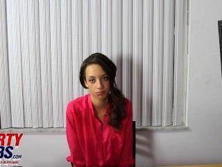 Pretty 18yr Old Ebony Redbone Teen Sucks 10 Inch Dick For Modeling Job