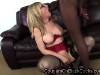 Slutty Milf In Sexy Stockings Nina Hartley Sucks Off Gifted Black Man