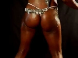 Big Tits & Ass Ebony Oily Dance