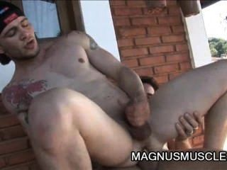 Arcanjo Amaro And Felix Stulbach - Awesome Outdoor Anal Fuck Session