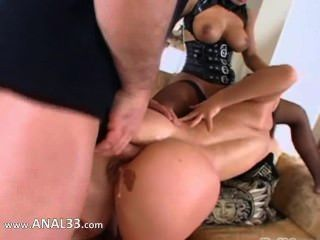 True Hardcore Anal Coitus In Threesome