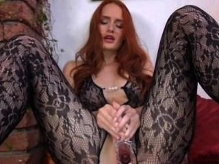 Gyno Toy In Her Huge Redhead Pussy