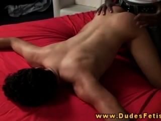 Ebony Gay Dominant Spanks Submissive