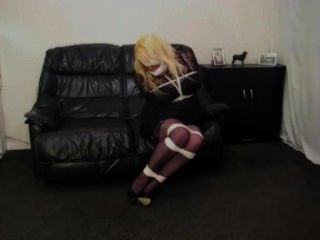 Dominator spank and wax hard poor damsels in live bdsm 9