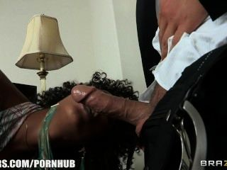 Misty Stone Converts A No-sex Camp Into A Brothel