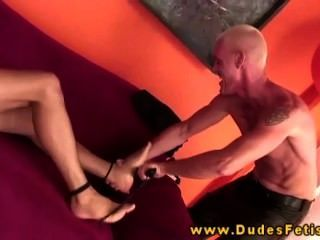 Gay Dom Flagellates His Submissive