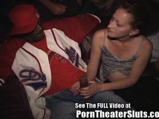 Wife Takes Public Cumshots & Creampies In A Porn Theater!
