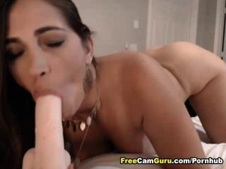 Busty Babe Rubs Her Clit And Fucks Her Pussy