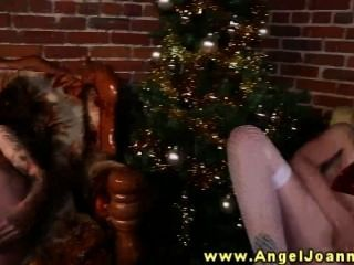 Angel Joanna And Bffs Fuck Their Xmas Dildos