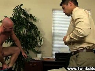 Sexy Gay Pervy Boss Mitch Vaughn Finally Digs Up Sufficiently Leverage On