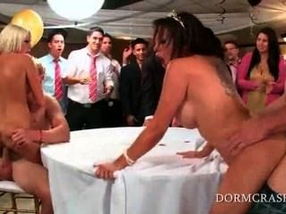 Wild Slutty Pornstars Jumping College Shafts At A Prom