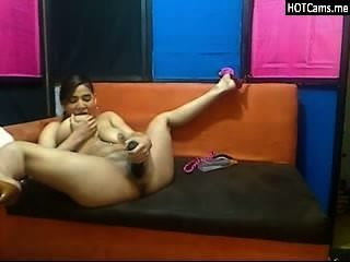 Big Tits Latina Teen Didloing Her Pussy And Anal Fisting