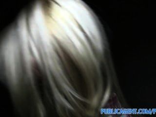 Publicagent Sexy Blonde With Firm Ass Swallows Cum