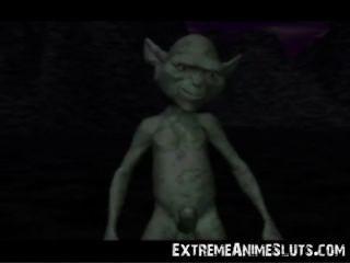 3d Aliens On A Princess!