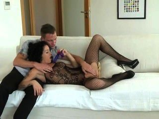 Babe Gets Double Penetration Fuck With Strapon