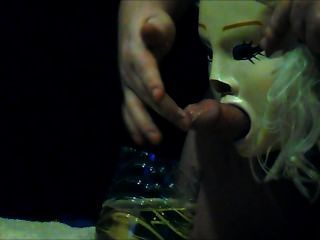 Slave Pissing Through A Mask