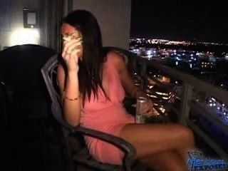 Raquel Smokes On Balcony Then Sucks