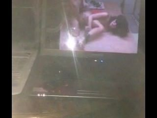 Man Getting Off Watching Hot Couple