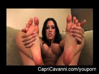 Capri Cavalli (cavanni) Oils And Sucks Her Feet