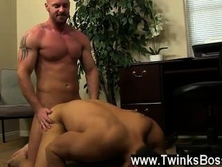 Hot Gay Scene Pervy Boss Mitch Vaughn Finally Digs Up Enough Leverage On