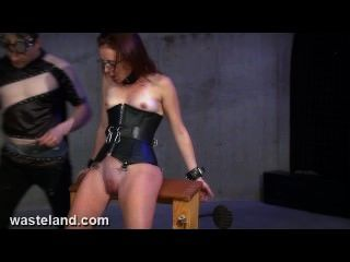 Tormenting Her Pussy With Clamps, Paddles And Electricity In Leather Corset