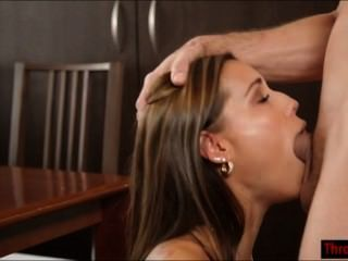 Satin Bloom Shows Her Deepthroat Skills