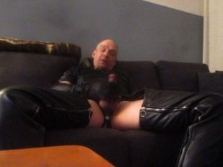 Leather Gloves Wank