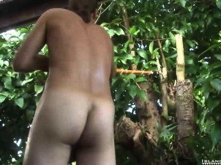 Long Haired Stud Cum Like Crazy!