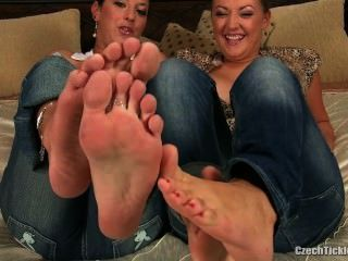 2 Girls Foot Tickle