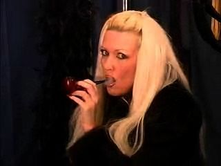 Pipe Smoking Sexy Celeste, A Rare Treat!
