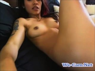 18yo cutie fucks her pussy with banana dildo at the casting 5