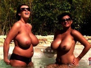 Sunbathing Tit Godesses!