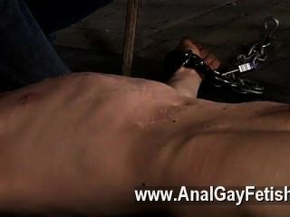 Gay Porn Chained To The Warehouse Floor And Incapable To Escape His