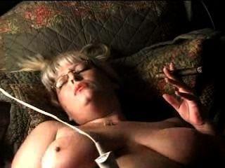 Hot Mature Blonde Wild Cigar Smoking Masturbation