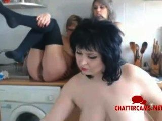 Three Milfs And A Washing Machine