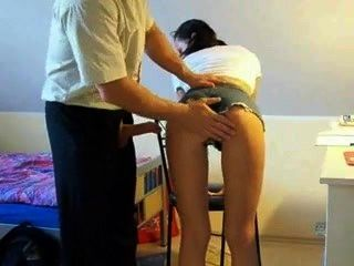 Germand Teacher Gets Blow Job From Big Tits Student