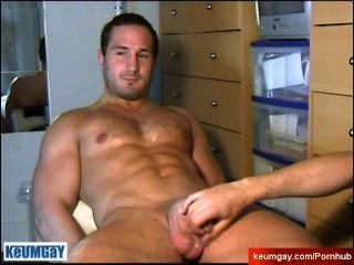 Straight Guy Serviced: Gets Wanked His Very Huge Cock By A Gay Guy !