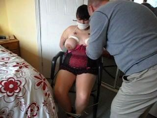 Bound To Chair And Tits Tied