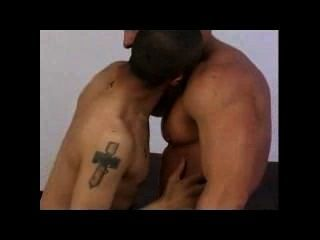 Gay Interracial (blk/ltn+wht) Nipple Play And Missionary Position: Set 01
