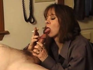 Mature Smokey Blowjob 2 With Cum