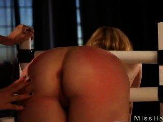 Gagged Babe Bubble Butt Spanked In Bdsm