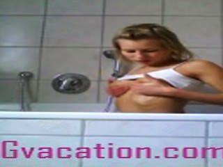 German Tramp Shows Of Her Hot Body In The Bath Tub